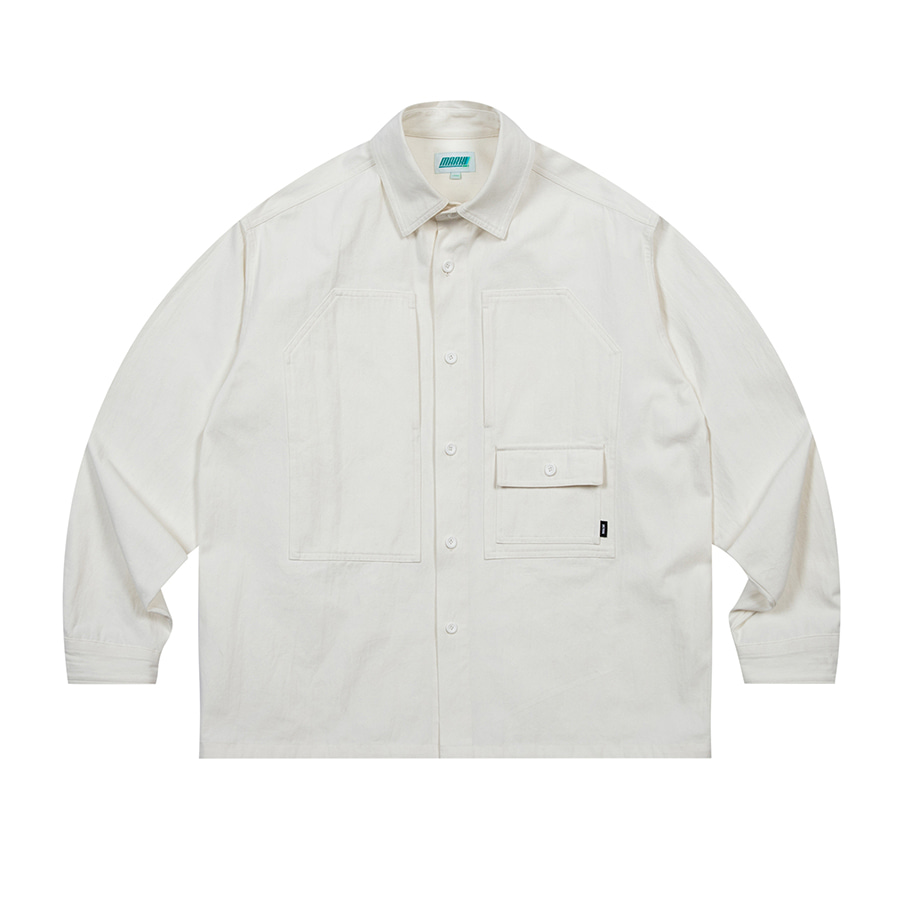 Overfit Work Shirts White
