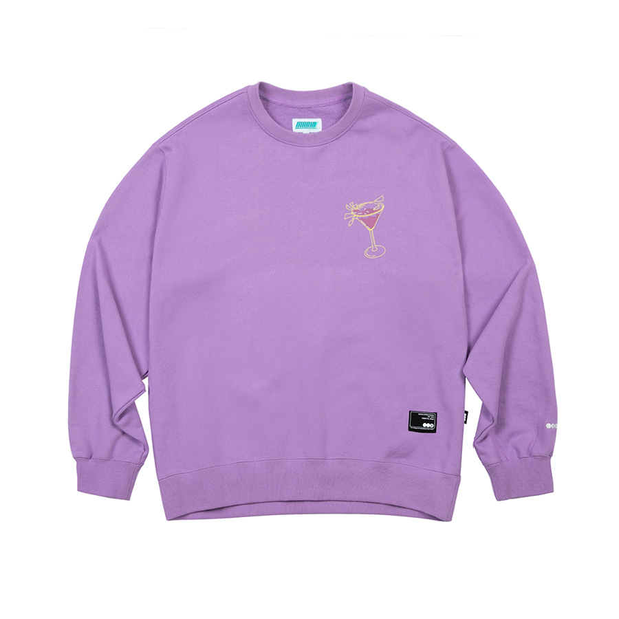 Cocktail Crewneck  Light Purple