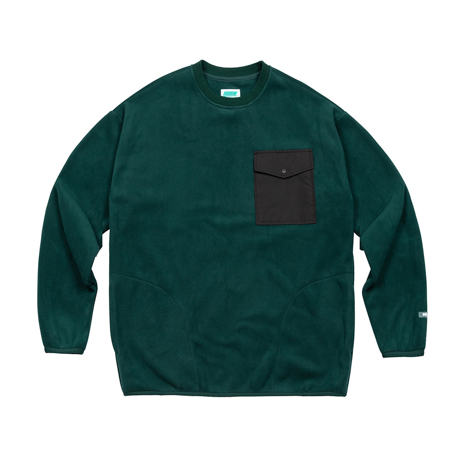 Fleece Crewneck Green