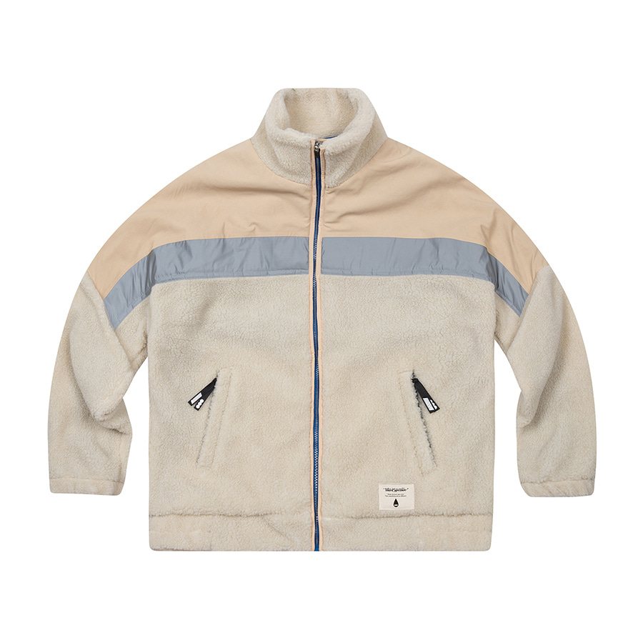 Boa Fleece Zipup Jacket Ivory