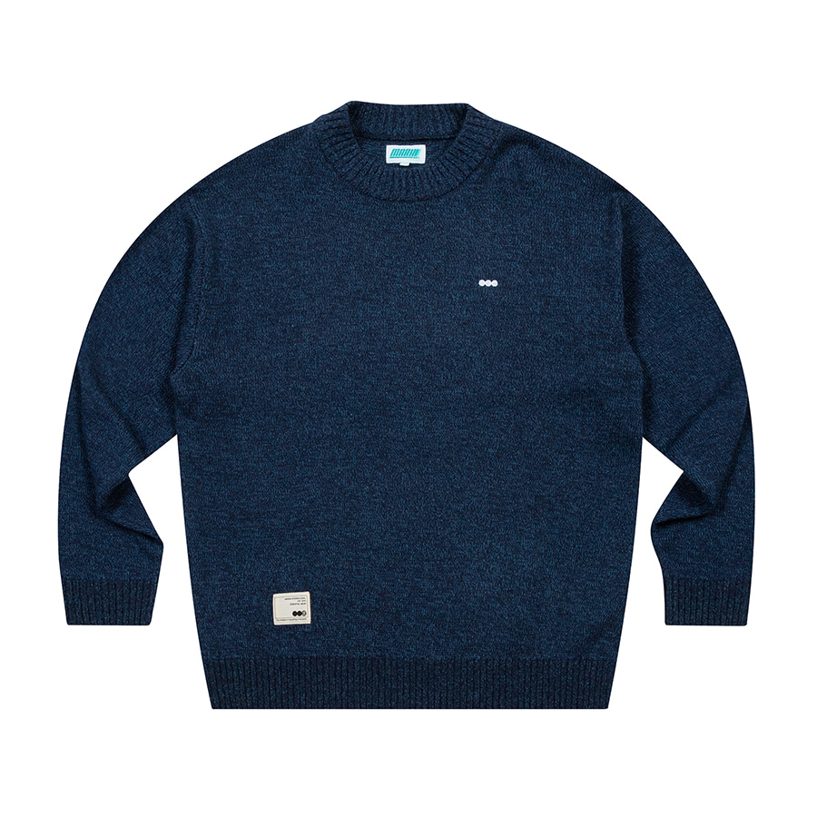 Solid Knit Crewneck Blue