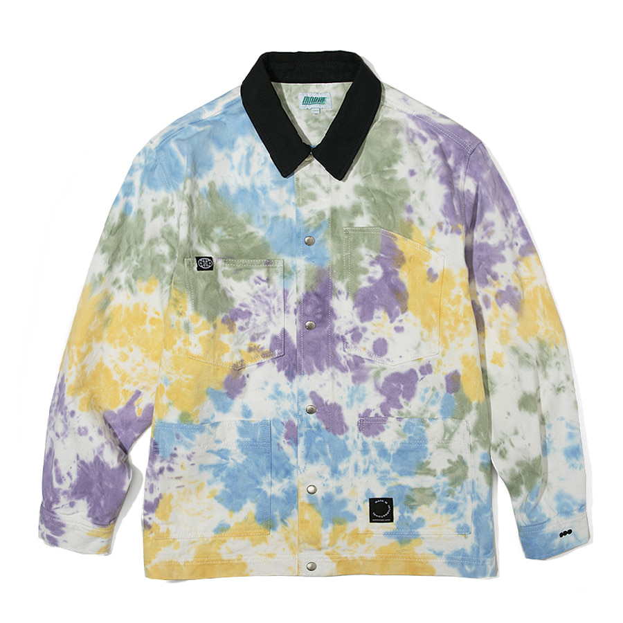 Multi Tiedye Jacket White